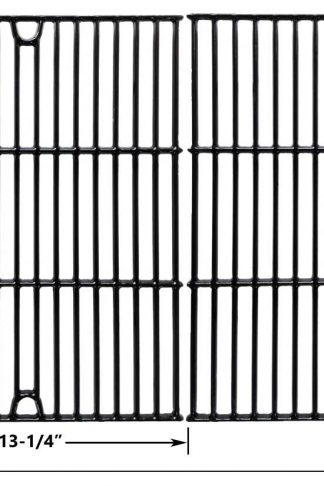 Porcelain Cast Iron Cooking Grid Replacement For Charbroil 463411512, Kenmore 122.16134110, 720-0773, Master Forge 1010037 and Nexgrill 720-0773 Gas Grill Models, Set of 2