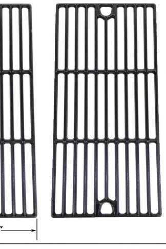 Porcelain Cast Iron Cooking Grid for Coleman 461230403, Charbroil 463240804, Kenmore, Master Chef, Broil King, Thermos, Centro 2000, 4000 and Broil King Gas Grill Models, Set of 3