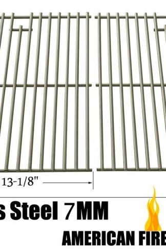 Replacement Stainless Steel Cooking Grid for Charbroil, Coleman, Bbq Grillware, Thermos and Uniflame Gas Grill Models, Set of 2