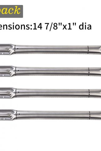 SHINESTAR Grill Burner Replacement Parts for Nexgrill 720-0670A, 720-0679B, Kenmore, K Mart, 4-Pack Stainless Steel Universal BBQ Burner Tube Pipe, Gas Grill Replacement Parts(14 7/ 8 inch, SS-GB101)