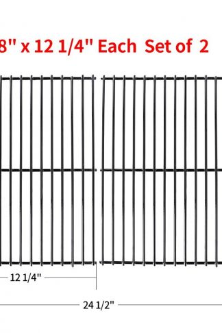 "SHINESTAR Grill Grate 16 5/8"" Grill Replacement Parts 16 inch Cooking Grid for Charbroil 463240804, Centro 2000, Kenmore, Master Chef, Thermos, Kirkland, Porcelain Steel (16 5/8"" x 12 1/4"", 2 Pack)"