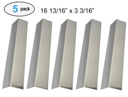 Set of 5 Stainless Steel Heat Plates Replacement for Gas Grill Models Brinkmann 810-1750-S, 810-1751-S, 810-3551-0, 810-3820-S, 810-3821-F, 810-3821-S