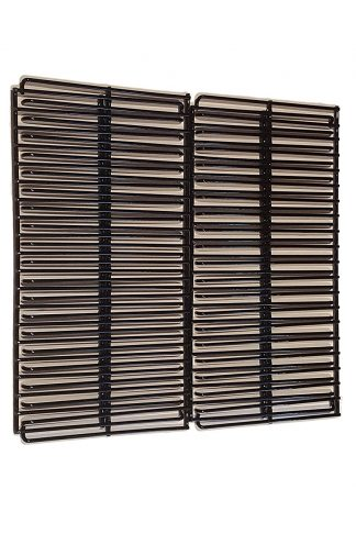 Set of Two Porcelain Steel Wire Cooking Grid Replacement (Depth 19 inches, width total 20 inches) for Char-Griller Models: 3001, 3008, 3030, 4000, 5050, 5252