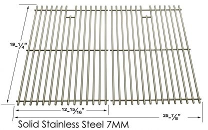 Stainless Steel Cooking Grates For Jenn Air 720-0336, 720-0163, 730-0163, 720-0433, Perfect Glo, Permasteel and Uberhaus Gas Grill Models, Set of 2
