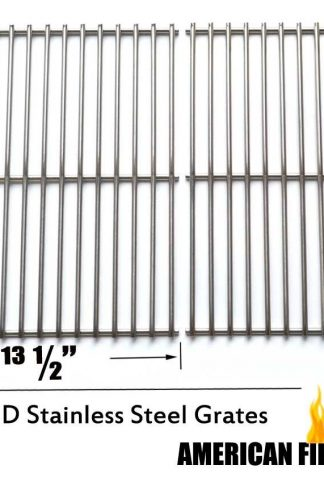 Stainless Steel Cooking Grates For Nexgrill 720-0697, Uniflame GBC091W, GBC940WIR, GBC981W, Grill Master 720-0697 Brinkmann 810-9490-0, Gas Grill Models, Set of 2