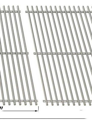Stainless Steel Cooking Grid For Uniflame GBC091W, GBC940WIR, GBC956W1NG-C, GBC981W, GBC981W-C, GBC983W-C and Tera Gear 13013007TG Gas Grill Models, Set of 2