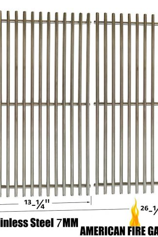 Stainless Steel Cooking Grid Replacement For Charbroil 463411512, 463411712 Master Forge 1010037, Nexgrill 720-0719BL, 720-0773 and Phoenix KS10002 Gas Grill Models, Set of 2
