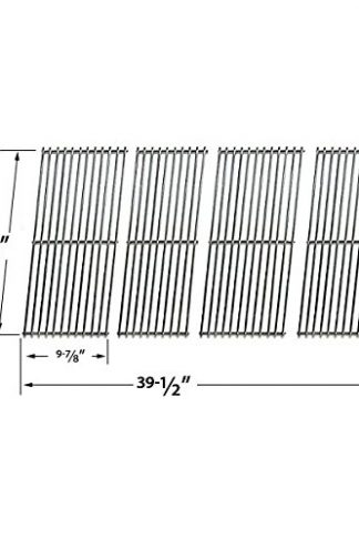Stainless Steel Cooking Grid for Duro 780-0390, Weber 5770001, Aussie 69F6U00KS1 & Tera Gear 780-0390 Gas Grill Models, Set of 4