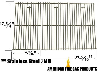 Stainless Steel Cooking Grid for Kenmore 148.1637110, 148.1615621, Master Chef L3218, Master Forge E3518-LP, L3218, 3218LTN, 3218LT, 3218LTM, DG0576CC, E3518-LPG Gas Grill Models, Set of 3
