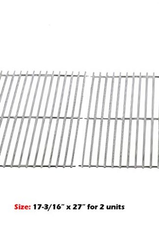 Uniflasy (2-Pack) Heavy Duty Solid Stainless Steel Rod Cooking Grid Grates Replacement for Brinkmann, Grill Master, Nexgrill and Uniflame Gas Grills
