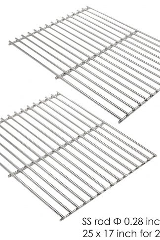 Uniflasy (2-Pack) Repair Part Heavy Duty Stainless Steel Rod Cooking Grid Grates Replacement for Select Great Outdoors, Charbroil, Grill Chef, Thermos & Vermont Castings Grill Models