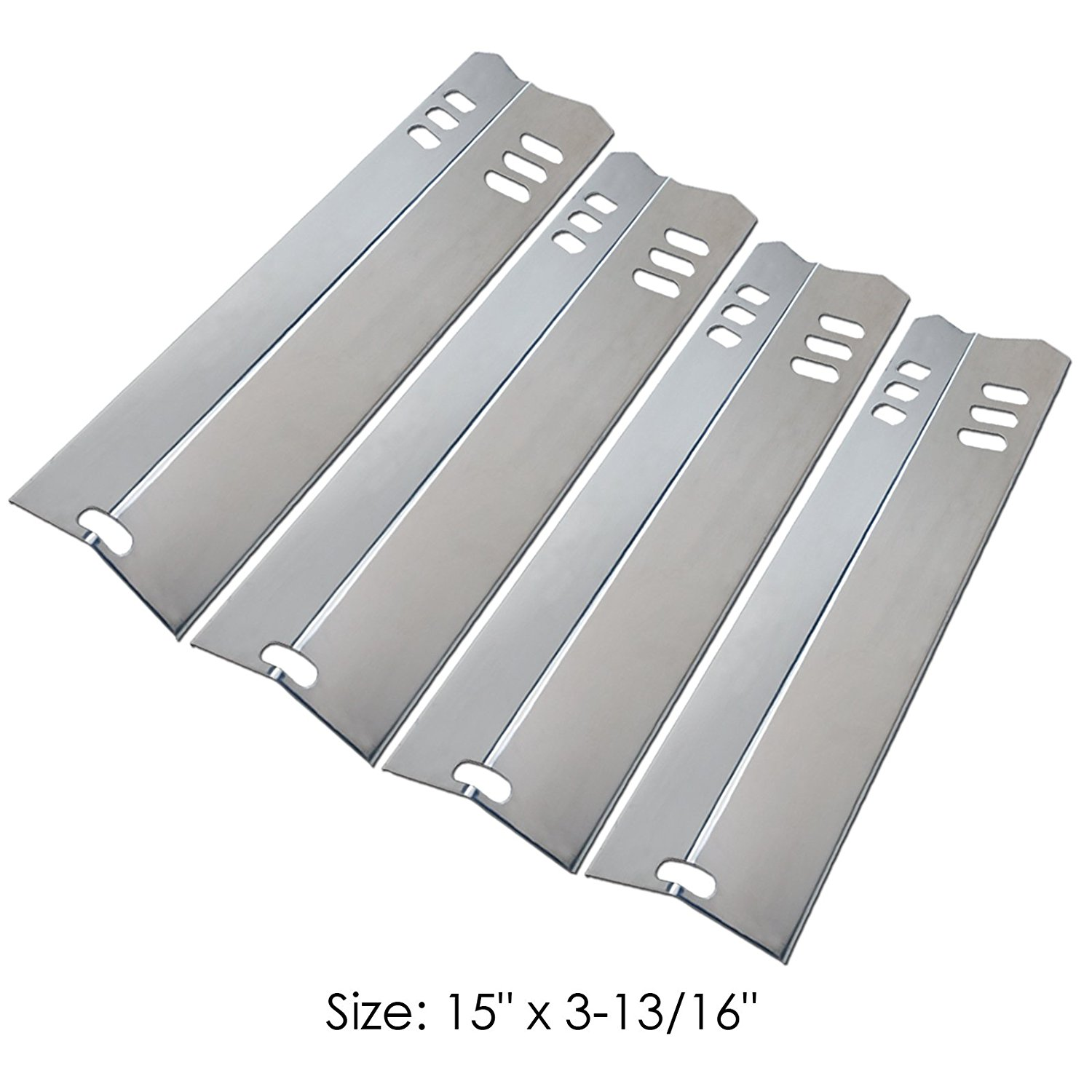 4-Pack Stainless Steel Grill Heat Shield Plate Flavorizer ...