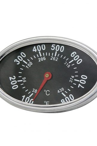 Uniflasy Stainless Steel Repair Replacement Part Temperature Gauge Heat Indicator for Select by Brinkmann, Uniflame, Aussie, Backyard, BBQ Grillware Models