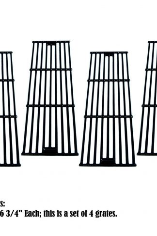 Zljiont (4-pack) Porcelain Cast Iron Cooking grid Replacement Chargriller, King Griller Gas Grill (4)