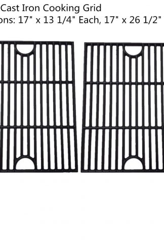 Zljoint (2-pack) Cast Iron Cooking Grid Replacement for Kenmore 122.16119, 122.16129, 122.166419, 16641, 415.1610711, 720-0341, 720-0549, Kmart 640-26629611-0 grill models, Set of 2