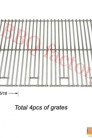 bbq factory JCX631 (4-Pack) Replacement Gas Grill Parts Stainless Steel Cooking Grid Grate for Brinkmann, Grill Chef, Kenmore Sears, K-Mart, Saturn Model Grills