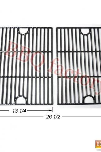 bbq factory JGX192 Porcelain Cast Iron Cooking Grid Grate Replacement for Select Gas Grill Models by Kenmore, Kmart and Others, Set of 2