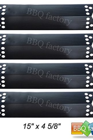 bbq factory® JPX681(4-pack) Porcelain Steel Heat Shield / Heat Plate for Charbroil, Kenmore Sears, K-Mart, Nexgrill, Tera Gear Model Grills