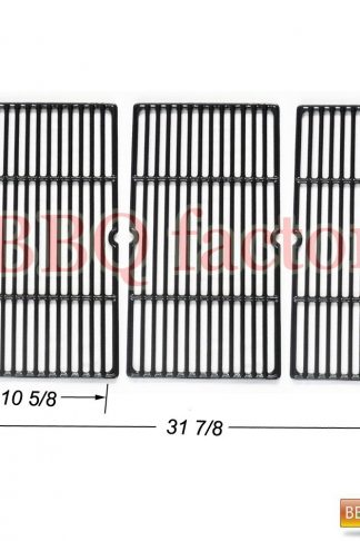 bbq factory Replacement Porcelain coated Cast Iron Cooking Grid Set of 3 for Select Gas Grill Models By Charbroil Grill Models 463268207, 463268806 Gas Grill and Others