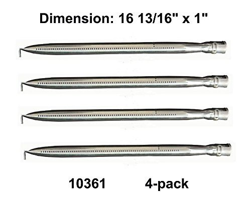 10361 (4-pack) Universal Straight Stainless Steel Pipe Burner for Charmglow, Nexgrill, Costco Kirkland, Perfect Glo, Permasteel, Sterling Forge, and Other Grills by Gas barbecue parts factory