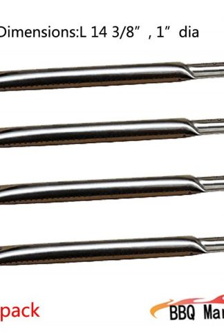 15491(4-pack) Straight Stainless Steel Burner for Charbroil, Kenmore, Brinkmann, Charmglow, Charmglo, Uniflame, Lowes Model Grills