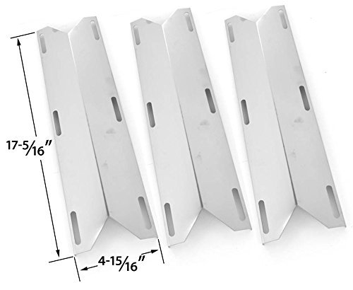 3 PACK Stainless Steel Heat Plate Replacement for Charmglow 720-0578, Kirkland 720-0433, 720-0432, Sams 720-0582, Member's Mark 720-0584A and Perfect Flame 720-0522CAN Gas Grill Models