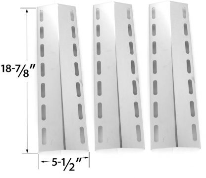 3 PACK Stainless Steel Heat Plate Replacements for Gas Grill Model Fiesta EHL1130-K410 & Nexgrill 720-0133, 720-0133-LP