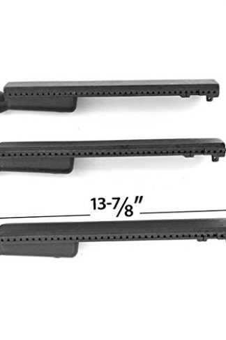 3 Pack Cast-Iron Grill Burner for Sams Member Mark REGAL04 CLP, Barbeques Galor 3BENDLP, Grand Hall REGAL 04 CLP, Members Mark REGAL04CLP and Patio Chef SS54 Gas Models