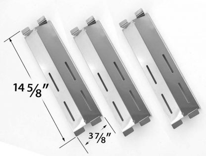 3 Pack Replacement Stainless Steel Heat Shield for Fiesta Ble Ember FG50057, FG50069, FG50069S, FG500057-103, FG50057-703NG, FG50069, FG50069-U409 and Grand Hall MFA05ALP, P01708004A Gas Models