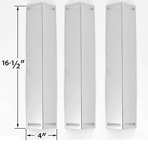 3 Pack Stainless Heat Plate for Smoke Canyon GR2034205-SC-00, Grill Chef BM616, BBQ Grillware, Smoke Hollow PS9500 and Members Mark GR2071001-MM-00 Gas Grill Models