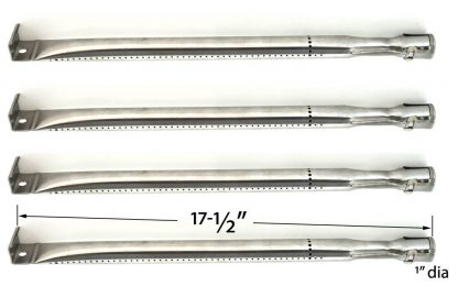4 Pack Replacement Stainless Steel Burner for select BBQTEK GSS3219AN, GSS3219B, GSC3219TA, GSC3219TN, GSS3219A and Presidents Choice 10011012, GSS2520JA Gas Grill Models