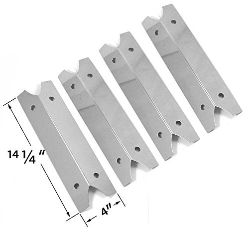 4 Pack Stainless Steel Heat Shield for Charmglow 810-9210-F, Brinkmann 810-9210-S, Outdoor Gourmet GR2002401-SC-00, Smoke Hollow 7000CGS and Smoke Canyon GR2002401-SC-00 Gas Grill Models