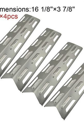 (4-pack) Replacement Stainless Steel Heat Plate/shield for Select Gas Grill Models By Kenmore, Master Forge and Others