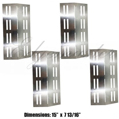 4Pack Stainless Steel Heat Shield for Barbeques Galore 3BENDLP, Charbroil 463742111, Grand Hall REGAL04CLP, Patio Chef SS42, SS54, SS72LP, SS72NG, p01705006e and Grill Chef PR364 Gas Grill Models