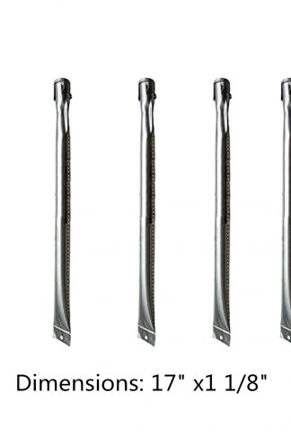 5pack Grill Pipe Burner Tubes Fits Grill Chef: BIG-8116,BIG8116,BAKERS &CHEFS: ST1017-012939,BIG-8116,MEV808ALP, GR2039201-MM-00,MEV808ALP,ST1017-01,ST1017-012939,UNIFLAME:GBC1059WB,GBC1059WE