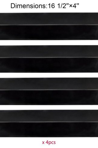 BBQ Mart PP2151 (4-pack) Porcelain Steel Heat Plate Replacement for Select Gas Grill Models By BBQ Grillware, Uniflame, Charbroil, Grill Chef and Others