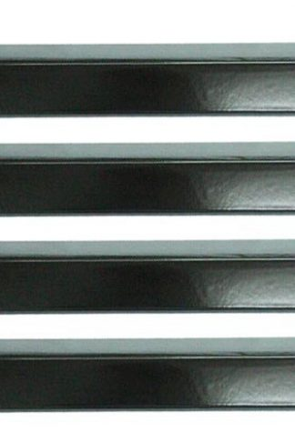 "BBQ Replacement (4-pack) Gas Grill Porcelain Enamel Steel Heat Plate For Brinkmann Grill Models (Dims: 15 3/8"" X 3 15/16"")"