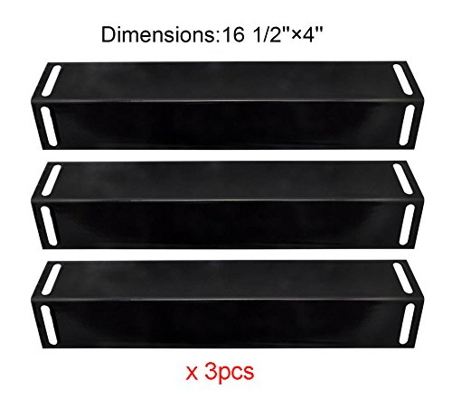 BBQ funlad PH2151 (3-pack) Porcelain Steel Heat Plate Replacement for Select Gas Grill Models By BBQ Grillware, Uniflame, Grill Chef and Others