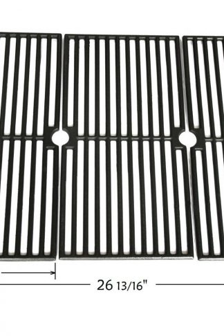 BBQ funland GI4103 Gloss Porcelain Coated Cast Iron Cooking Grid Replacement for Select Brinkmann and Charmglow Gas Grill Models, Set of 3