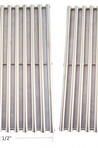 BBQ funland GSS612 NEW Stainless Steel Cooking Grid Replacement for Select Gas Grill Models By Brinkmann, Charmglow, Turbo, Set of 2