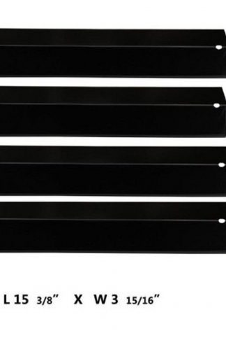BBQration BBQ Gas Grill Heat Plate Porcelain Steel Heat Shield for Aussie, Brinkmann, Uniflame, Charmglow, Grill King, Lowes Model Grills (4-pack)