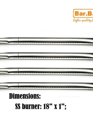Bar.b.q.s 13181 (4-pack) Replacement Straight Stainless Steel Burner for Perfect Flame, Uniflame, and Other Grills