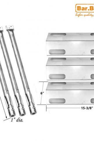 Bar.b.q.s 3Pack Gas Grill Rebuild Kit Stainless Steel Heat Plate and Stainless Steel Burner Parts Replacement For Ducane Affinity 3100 3400 Gas Grill Models (Repair Kit)