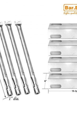 Bar.b.q.s 4Pack Gas Grill Rebuild Kit Stainless Steel Heat Plate and Stainless Steel Burner Parts Replacement For Ducane Affinity 3100 3400 Gas Grill Models