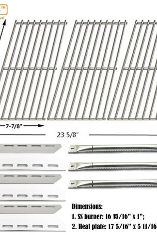 Bar.b.q.s Replacement Gas Grill SS Burners , SS Heat Plates, SS Cooking Grids Grates For Lowe's Perfect Flame Gas Barbecue Grill Model 720-0335, 7200335, 720 0335
