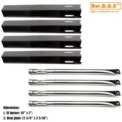 Bar.b.q.s Replacement Parts Barbecue Perfect Flame GSC3318, GSC3318N Stainless Steel Gas Grill Burner, Porcelain Steel Heat Plate Heat Shield, Heat Tent, Vaporizor Bar, and Flavorizer Bar.