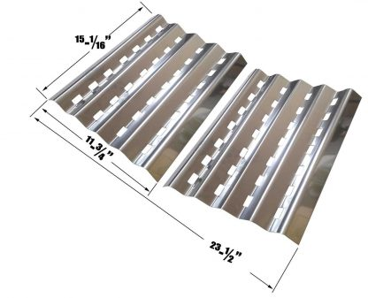Brinkmann 2400, 2400 Pro Series, Pro Series 2600, 810-2600-0, 810-2600-1, Pro Series 2630, 810-2630, Falcon 4400, Patio Chef SS48 Stainless Heat Shields, Set of 2