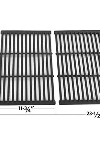 Cast Iron Cooking Grid For BBQ Pro, Brinkmann, Grill Chef SS525-B, Members Mark REGAL04CLP, Nexgrill and Grand Hall REGAL 04 CLP Gas Grill Models, Set of 2