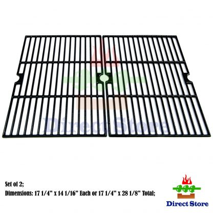 Direct store Parts DC111 Porcelain Cast Iron Cooking grid Replacement Brinkmann, Aussie, Members Mark, Nexgrill, Better Homes&Gardens, Grill Chef, Grill King, Mission Gas Grill