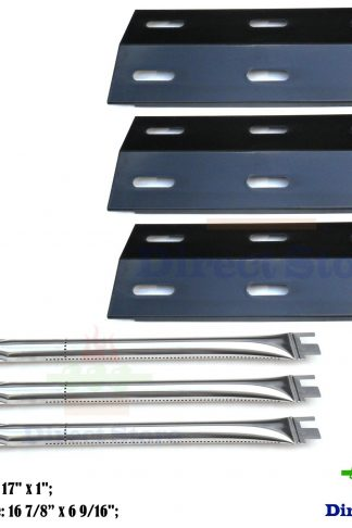 Direct store Parts Kit DG102 Replacement Ducane Gas Barbecue Grill 30400040,3200,3400 Grill Burners & Heat Plates (Stainless Steel Burner + Porcelain Steel Heat Plate )